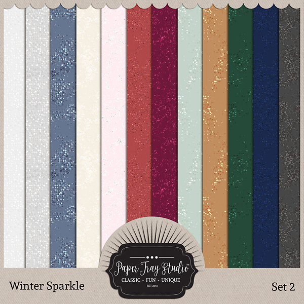 Winter Sparkle - Set 2 Digital Art - Digital Scrapbooking Kits