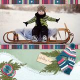 Winter Days - Sledding Party Page Kit