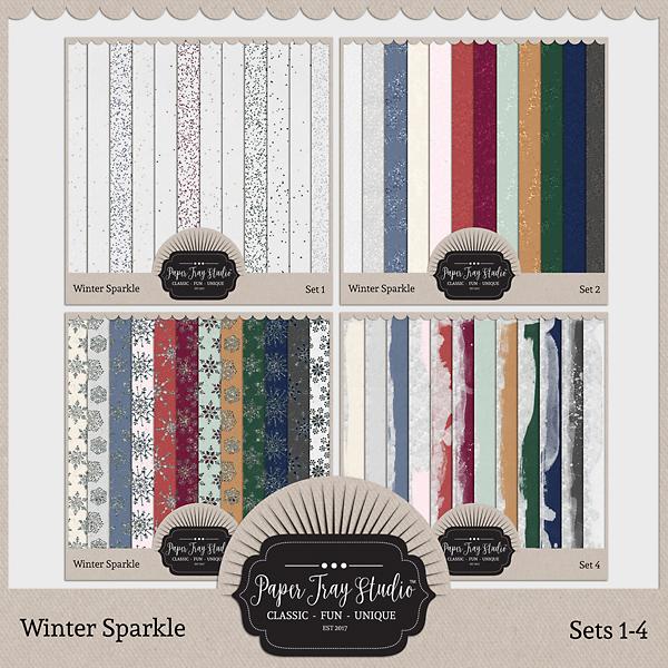 Winter Sparkle - Sets 1-4 Digital Art - Digital Scrapbooking Kits
