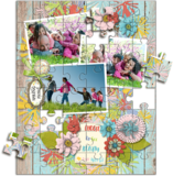 Spring Beauty Pre-designed Puzzle Template