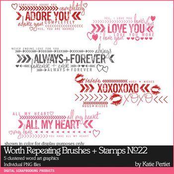 Worth Repeating Brushes And Stamps No. 22 Digital Art - Digital Scrapbooking Kits