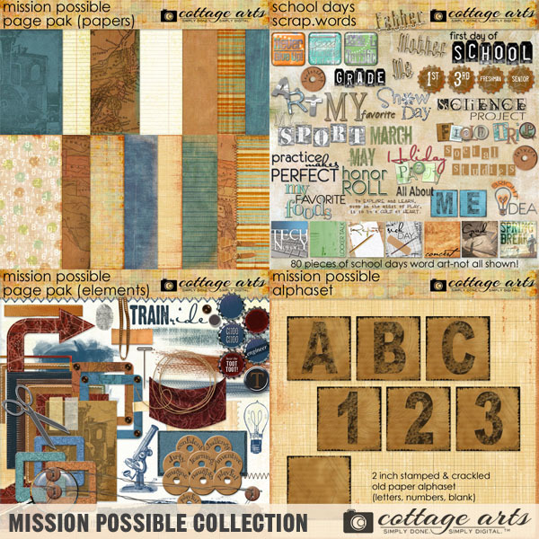 Mission Possible Collection Digital Art - Digital Scrapbooking Kits
