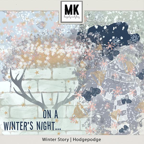 Winter Story - Hodgepodge Digital Art - Digital Scrapbooking Kits