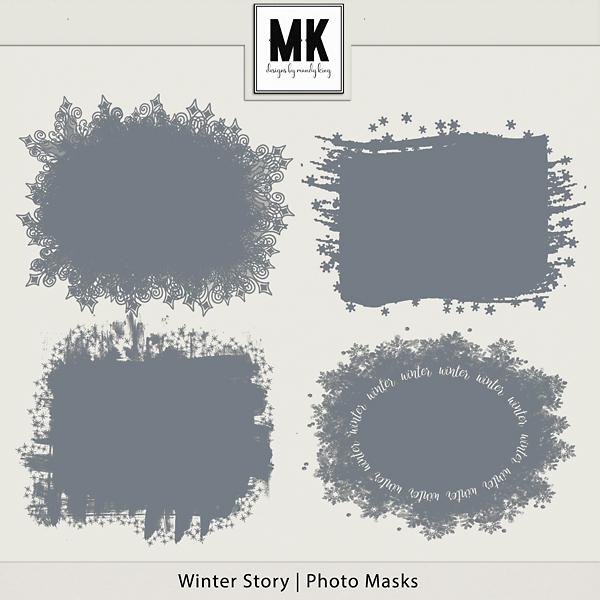 Winter Story - Photo Masks Digital Art - Digital Scrapbooking Kits