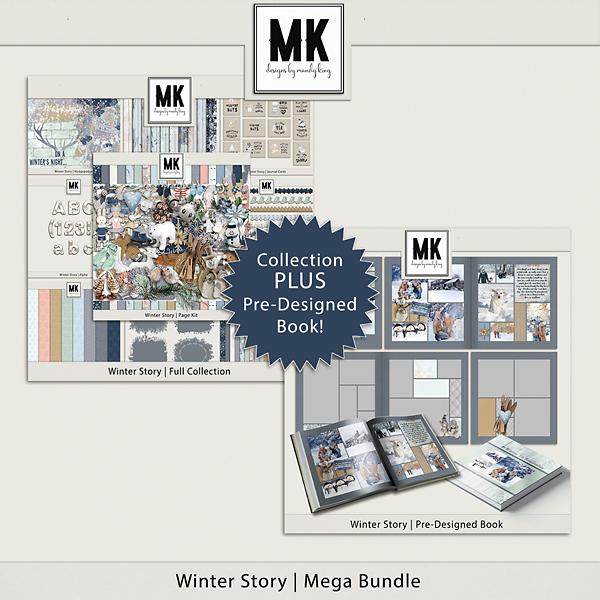 Winter Story Mega Bundle Digital Art - Digital Scrapbooking Kits