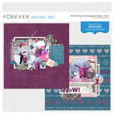 Winter Days Predesigned Pages - Set 1