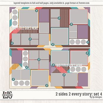 2 Sides 2 Every Story - Set 4 Digital Art - Digital Scrapbooking Kits