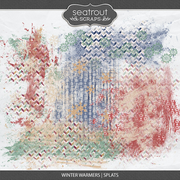 Winter Warmers Splats Digital Art - Digital Scrapbooking Kits