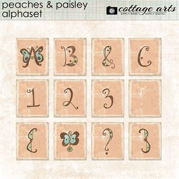 Peaches And Paisley AlphaSet