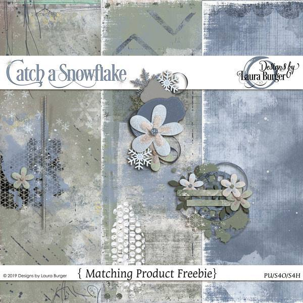 Catch A Snowflake Freebie Digital Art - Digital Scrapbooking Kits