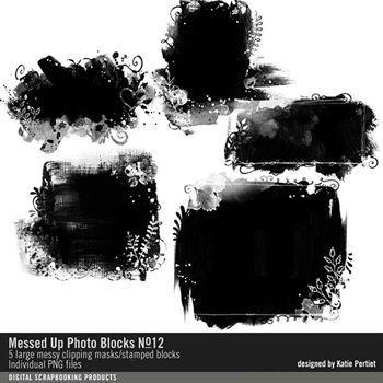 Messed Up Photo Blocks Brushes And Stamps No. 12 Digital Art - Digital Scrapbooking Kits