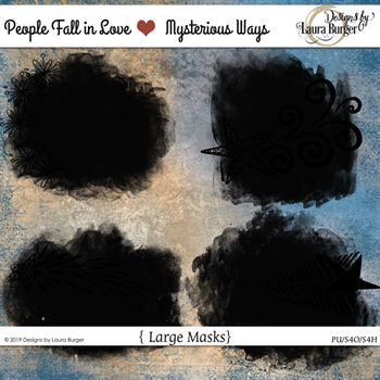 People Fall In Love Mysterious Ways Masks Digital Art - Digital Scrapbooking Kits