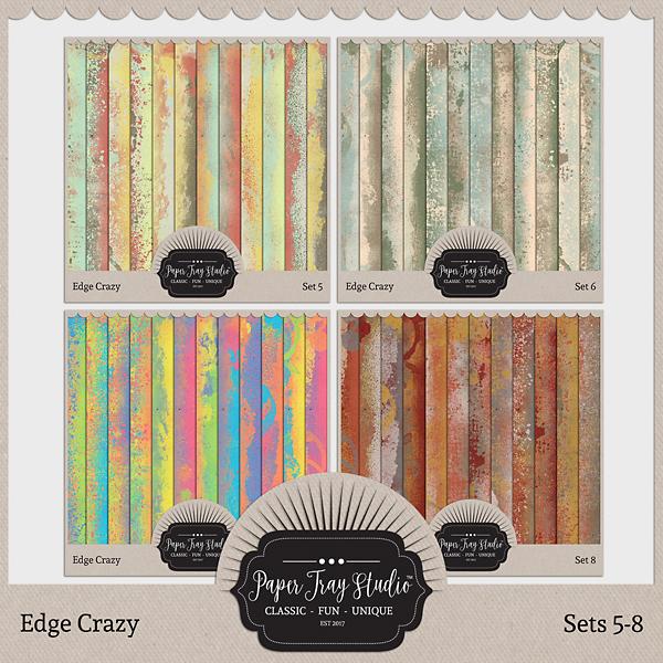 Edge Crazy - Sets 5-8 Digital Art - Digital Scrapbooking Kits