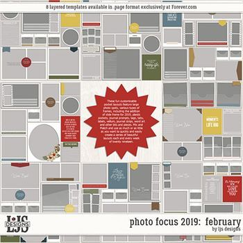 Photo Focus 2019 - February Digital Art - Digital Scrapbooking Kits