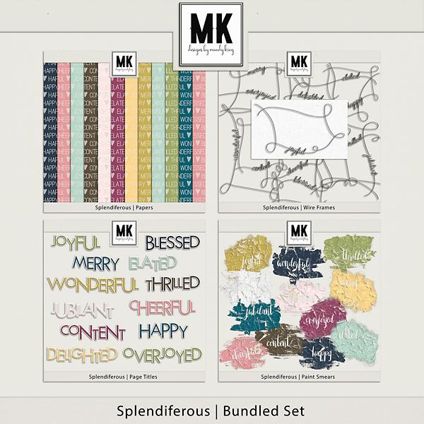 Splendiferous Collection Digital Art - Digital Scrapbooking Kits
