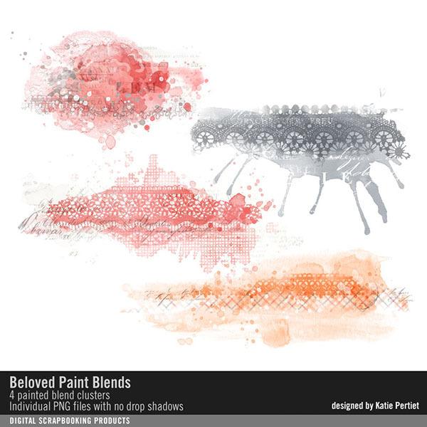 Beloved Painted Blends Digital Art - Digital Scrapbooking Kits