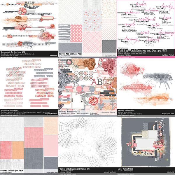 Beloved Scrapbooking Bundle Digital Art - Digital Scrapbooking Kits
