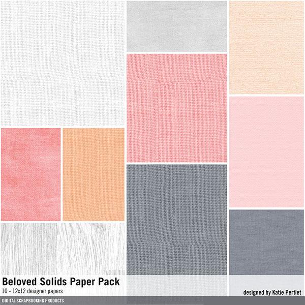 Beloved Solids Paper Pack Digital Art - Digital Scrapbooking Kits