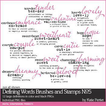 Defining Words Brushes And Stamps No. 05 Digital Art - Digital Scrapbooking Kits