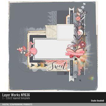 Layer Works No. 636 Layered Template Digital Art - Digital Scrapbooking Kits