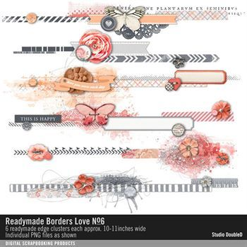 Readymade Borders Love No. 06 Digital Art - Digital Scrapbooking Kits