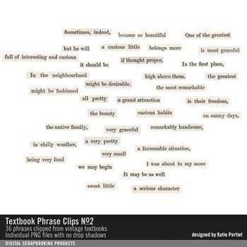 Textbook Phrase Clips No. 02 Digital Art - Digital Scrapbooking Kits