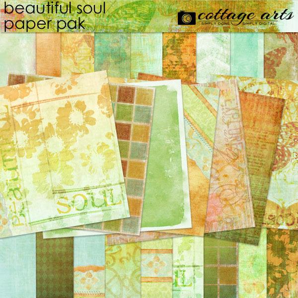 Beautiful Soul Paper Pak Digital Art - Digital Scrapbooking Kits