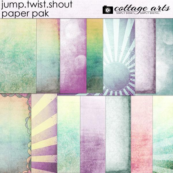 Jump Twist Shout Paper Pak Digital Art - Digital Scrapbooking Kits