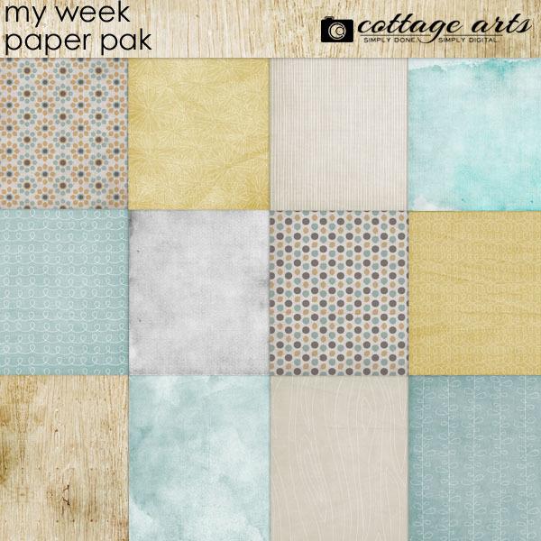 My Week Paper Pak Digital Art - Digital Scrapbooking Kits
