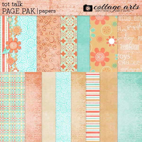 Tot Talk Paper Pak Digital Art - Digital Scrapbooking Kits