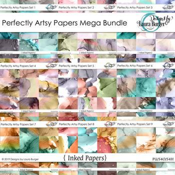 Perfectly Artsy Papers Mega Bundle Digital Art - Digital Scrapbooking Kits