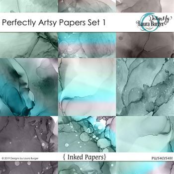 Perfectly Artsy Papers Set 1 Digital Art - Digital Scrapbooking Kits