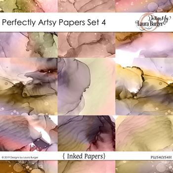 Perfectly Artsy Papers Set 4 Digital Art - Digital Scrapbooking Kits