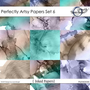 Perfectly Artsy Papers Set 6 Digital Art - Digital Scrapbooking Kits