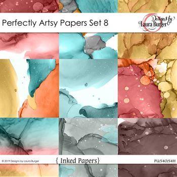 Perfectly Artsy Papers Set 8 Digital Art - Digital Scrapbooking Kits