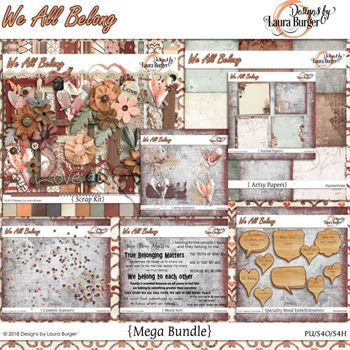 We All Belong Mega Bundle Digital Art - Digital Scrapbooking Kits