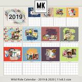 Wild Ride Calendar 2019 & 2020 - 11x8.5