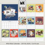 Wild Ride Calendar 2019 & 2020 - 12x18