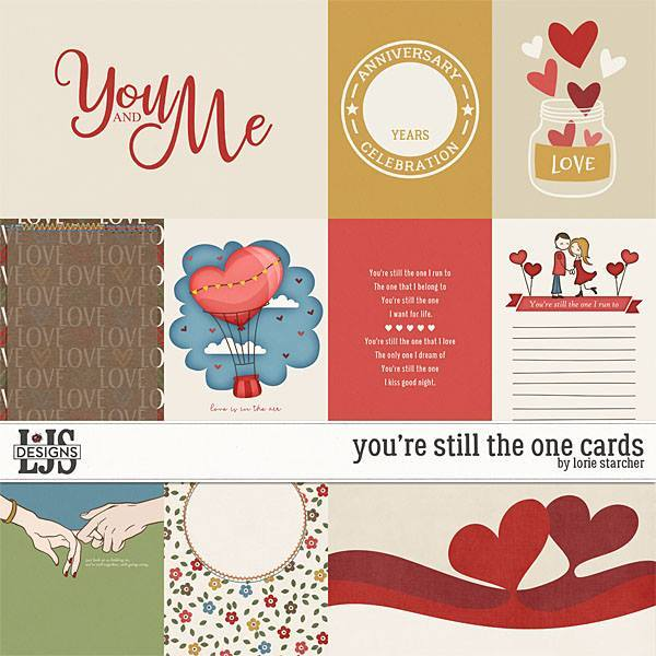 You're Still The One Cards Digital Art - Digital Scrapbooking Kits