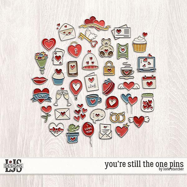 You're Still The One Pins Digital Art - Digital Scrapbooking Kits