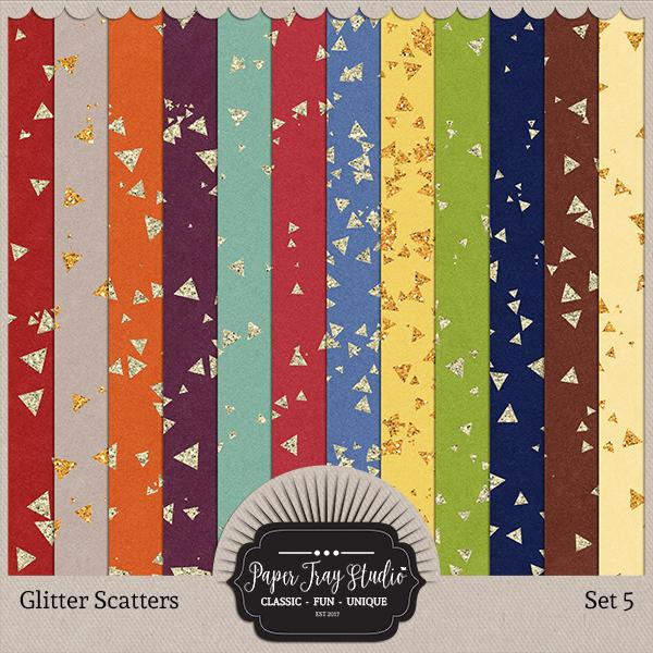 Glitter Scatters - Set 5 Digital Art - Digital Scrapbooking Kits