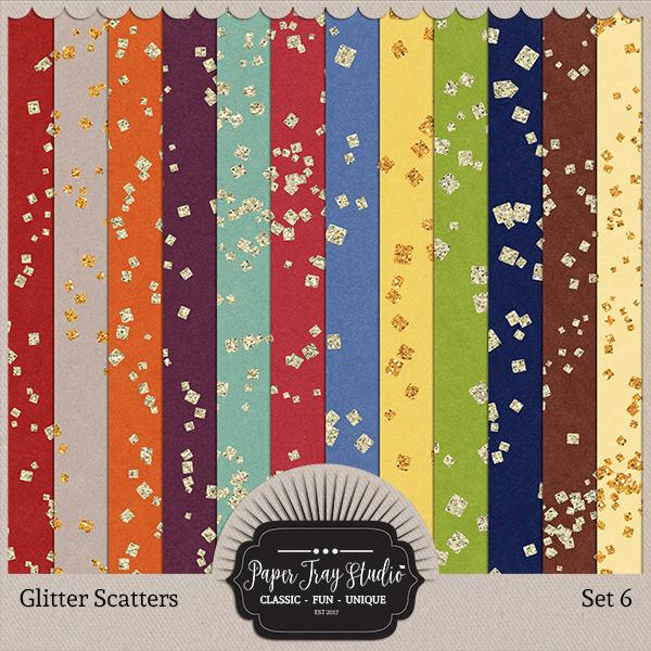 Glitter Scatters - Set 6 Digital Art - Digital Scrapbooking Kits