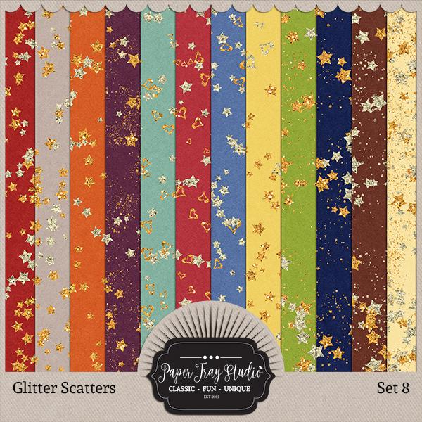 Glitter Scatters - Set 8 Digital Art - Digital Scrapbooking Kits