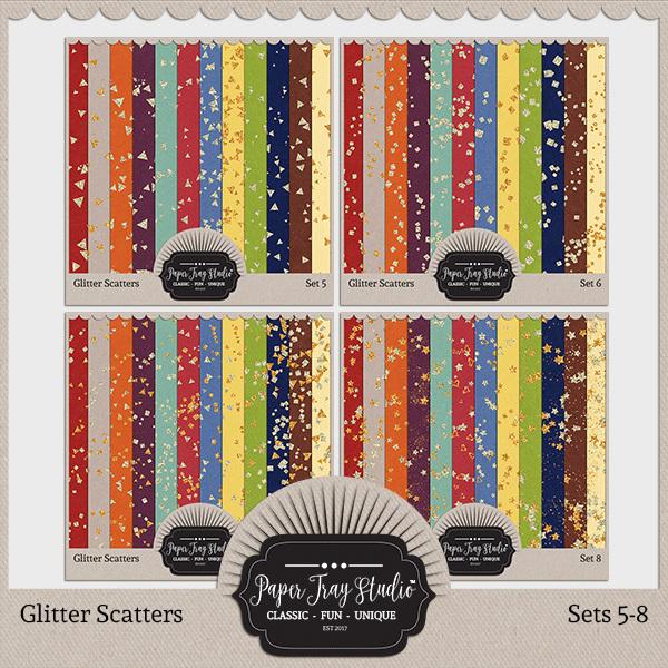 Glitter Scatters - Sets 5-8 Digital Art - Digital Scrapbooking Kits