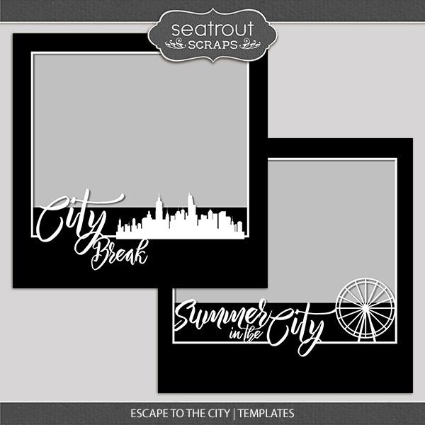Escape To The City Templates Digital Art - Digital Scrapbooking Kits