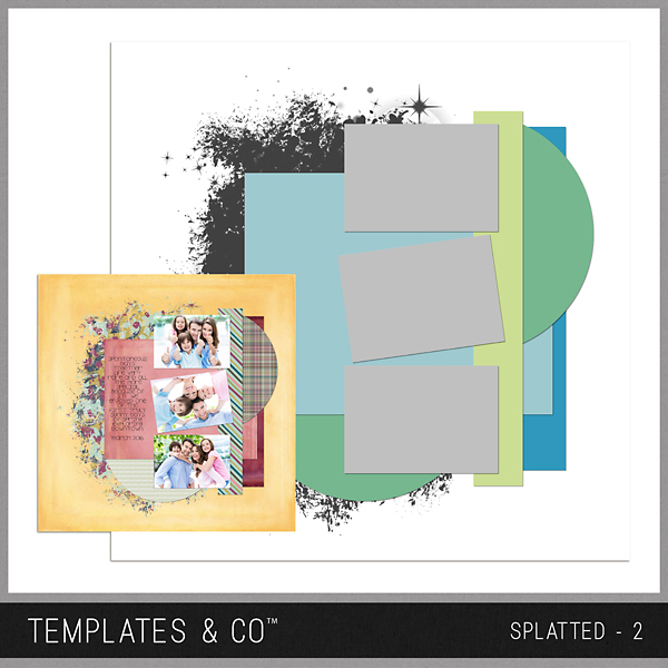 Splatted - 2 Digital Art - Digital Scrapbooking Kits