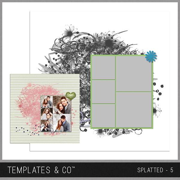 Splatted - 5 Digital Art - Digital Scrapbooking Kits