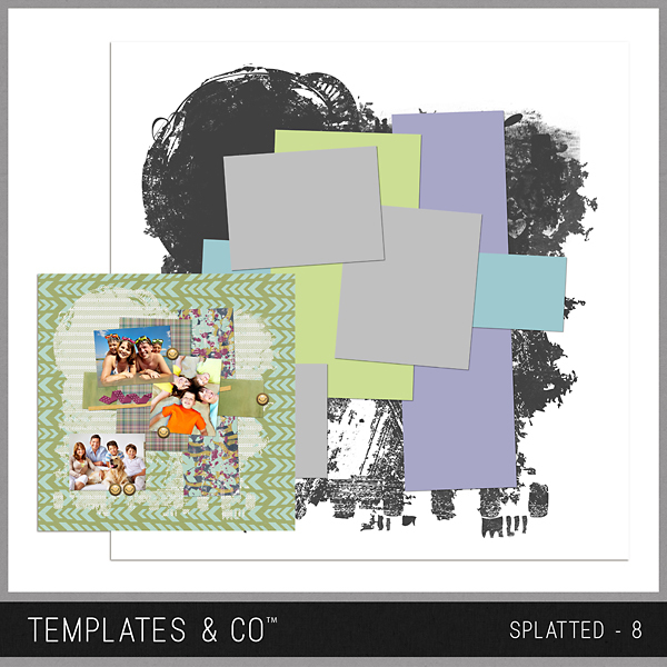Splatted - 8 Digital Art - Digital Scrapbooking Kits