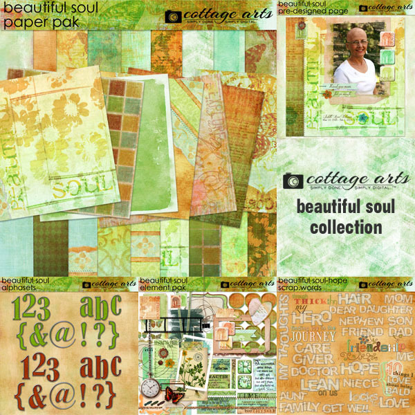 Beautiful Soul Collection Digital Art - Digital Scrapbooking Kits
