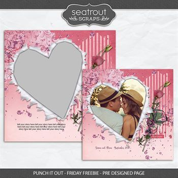 Punch It Out - Friday Freebie - Pre Designed Page Digital Art - Digital Scrapbooking Kits